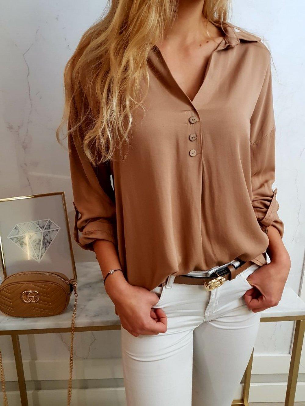 Koszula Trapez Camel