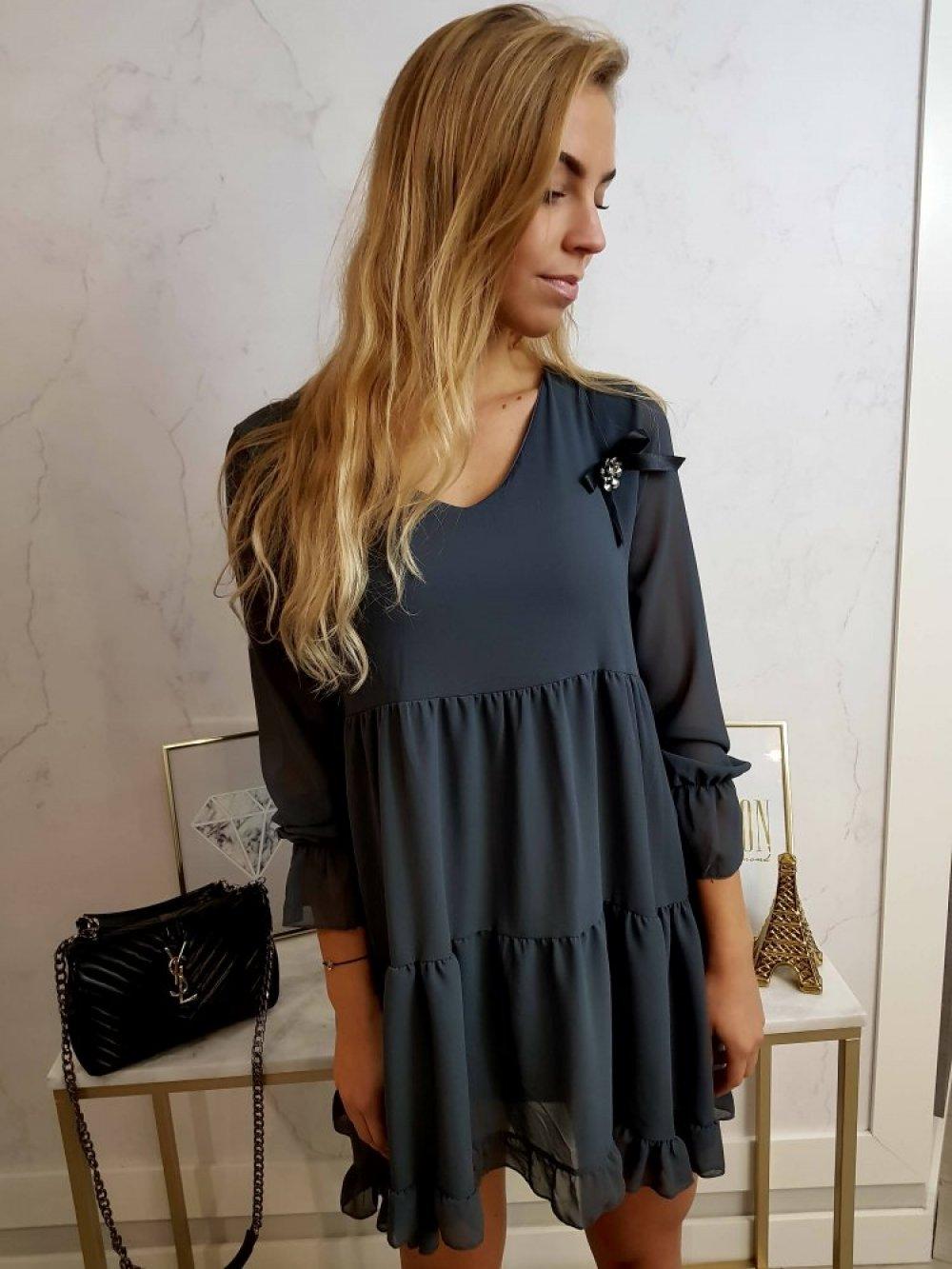 Sukienka Cassi Grafit