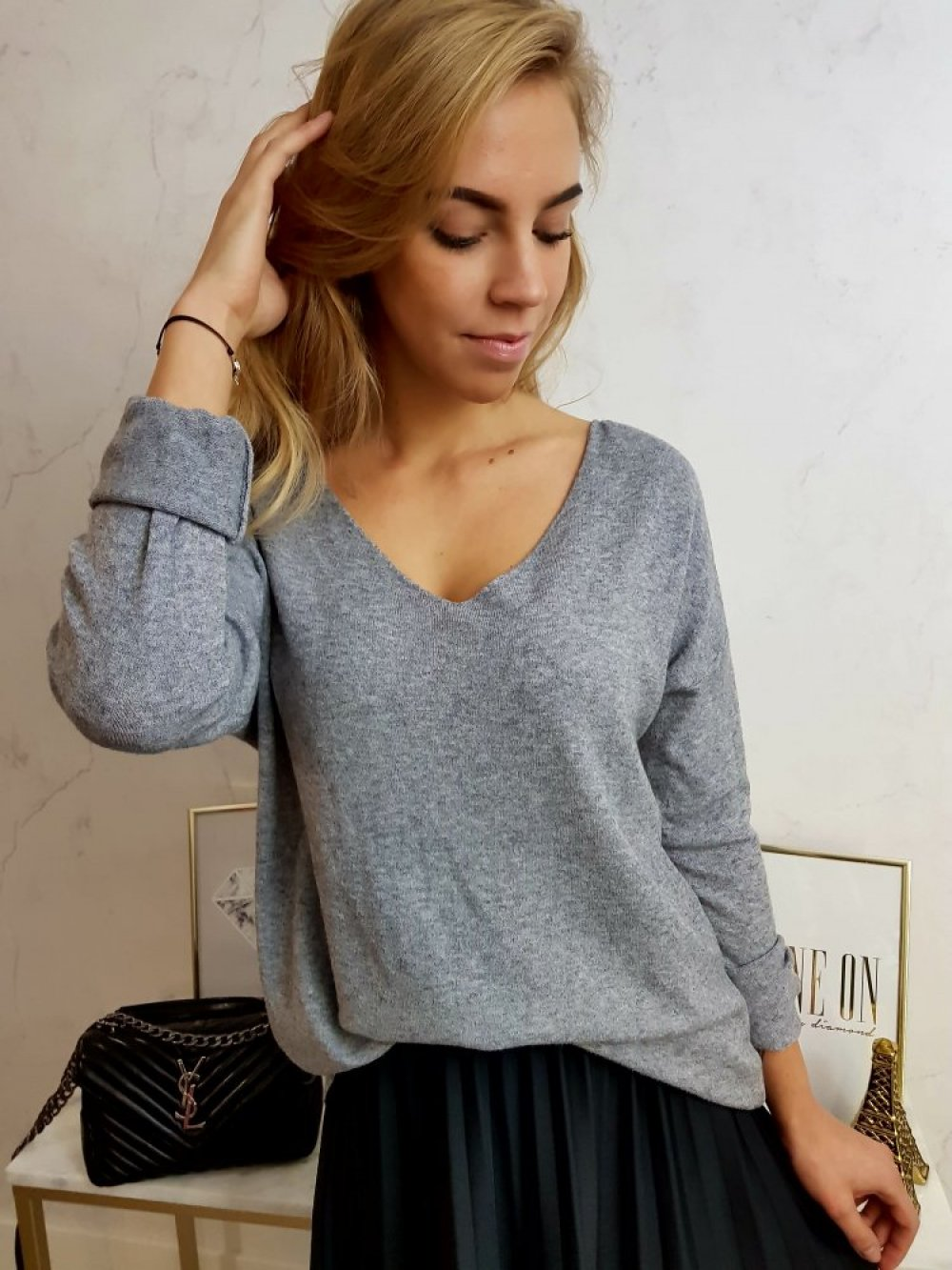 Sweterek Soft Szary