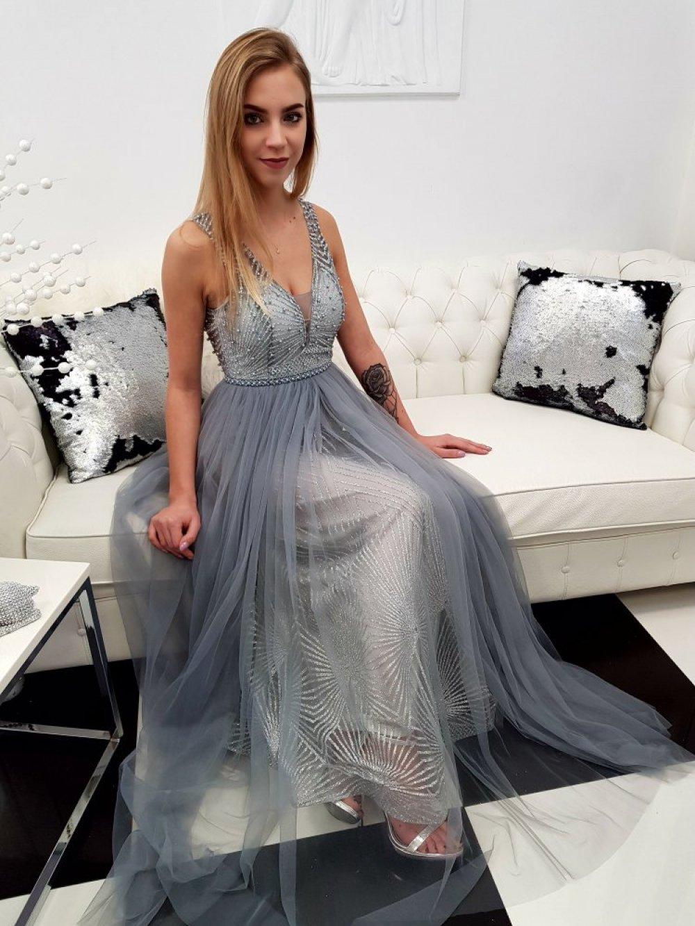 Sukienka Princess Szara