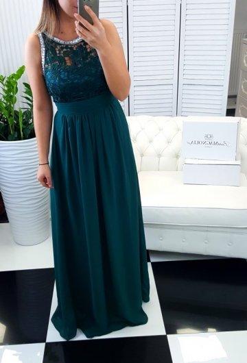 Sukienka Atena Butelkowa Zieleń
