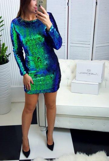 Sukienka Cekiny Zielona