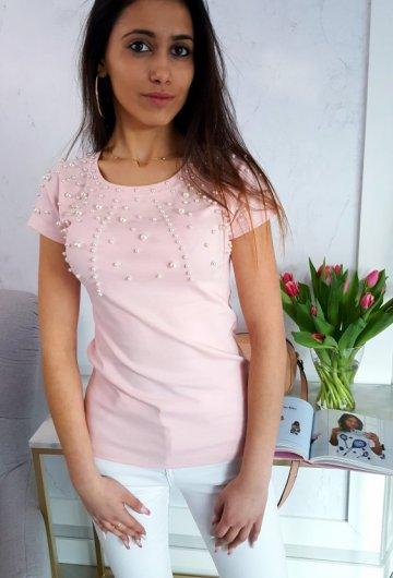 T-shirt Miss Kiss Różowy