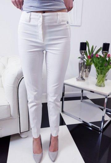 Spodnie Elegant White