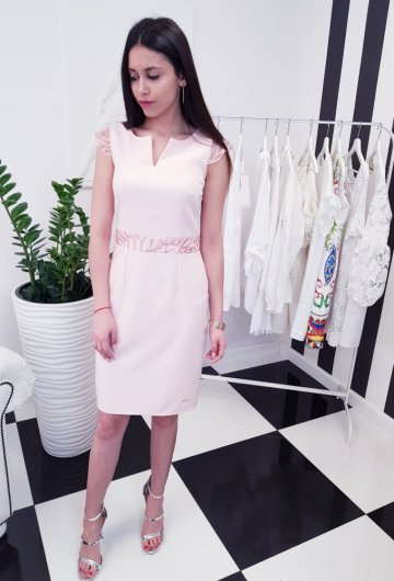 Sukienka Laura Różowa 2