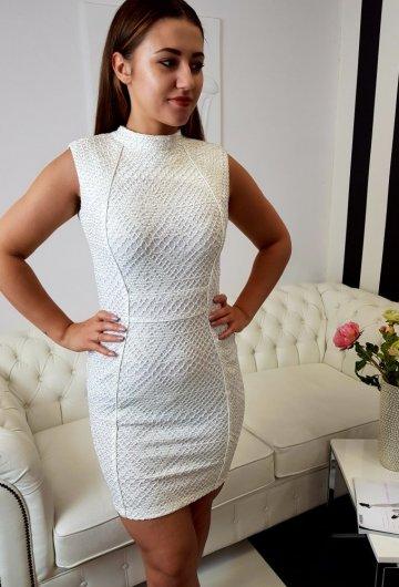 Sukienka Classy Kremowa