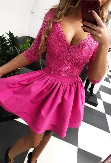 Sukienka Glamour Amarant