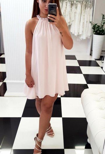 Sukienka Flo Pudrowy Róż