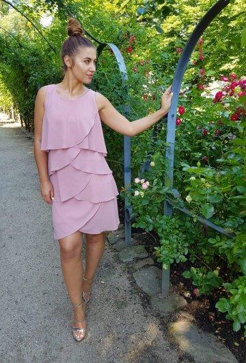 Sukienka Flower Brudny Róż