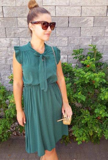 Sukienka Marii Butelkowa Zieleń