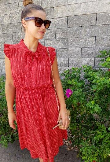 Sukienka Marii Czerwona