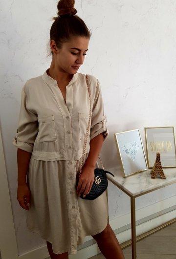 Sukienka Italy Pocket Piaskowa