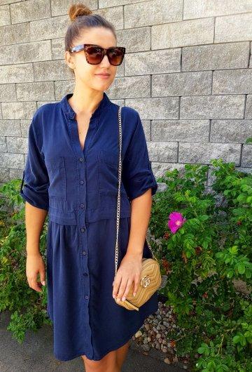 Sukienka Italy Pocket Granat