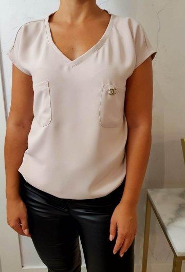 Bluzka Pin Beige