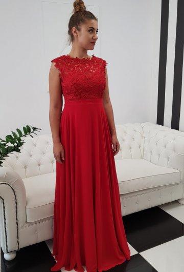 Sukienka Gipiura Czerwona 1