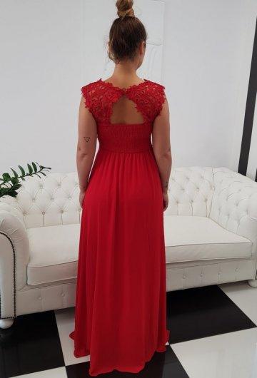 Sukienka Gipiura Czerwona 4
