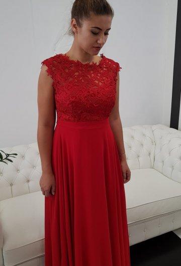 Sukienka Gipiura Czerwona 5