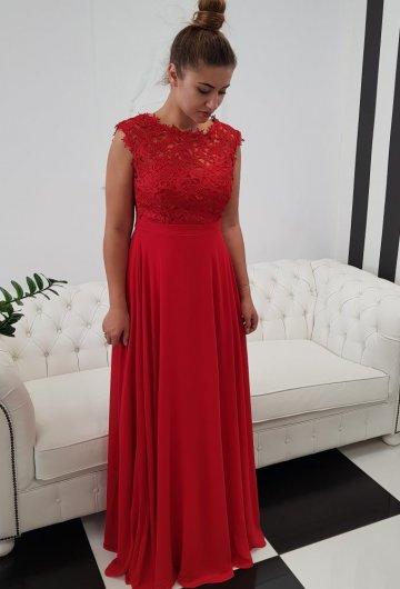 Sukienka Gipiura Czerwona 6