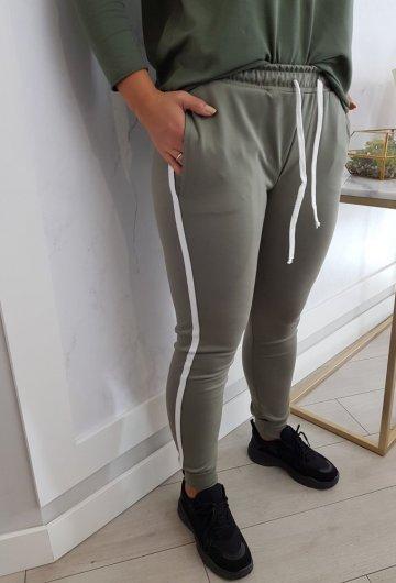 Spodnie Dresowe Lalu Khaki