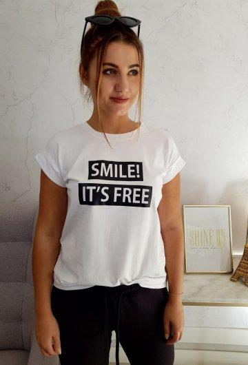 Bluzka Smile Biała