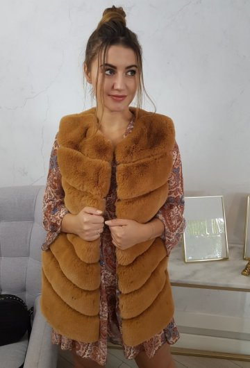 Kamizelka Fur Camel