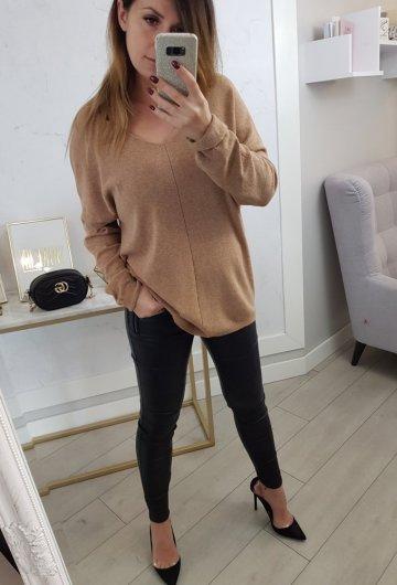 Sweterek Roma Camel
