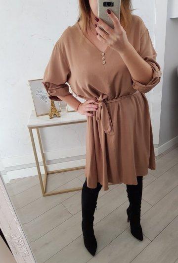 Sukienka Guziczki Cappuccino