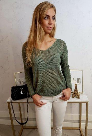 Sweterek Ażurowy Khaki