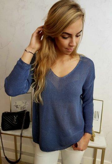 Sweterek Ażurowy Morski