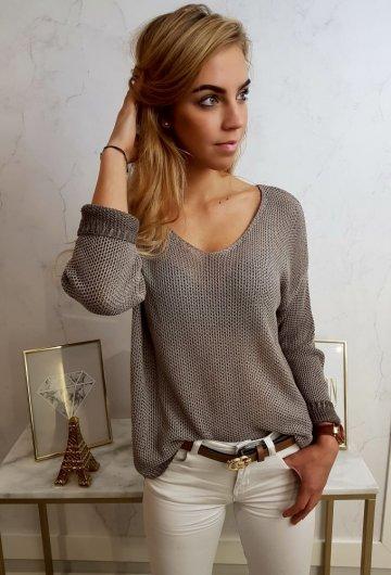 Sweterek Ażurowy Cappuccino