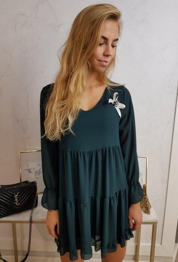 Sukienka Cassi Butelkowa Zieleń