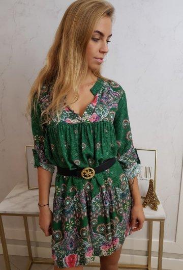 Sukienka Pawie Oko Zielona