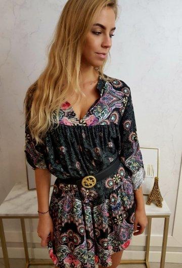 Sukienka Pawie Oko Czarna