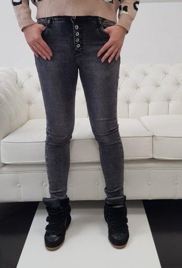 Spodnie TOXIC Grafitowe z guzikami