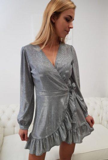 Sukienka z Długim Rękawem Paloma Połyskująca