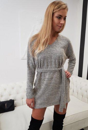 Sukienka Sweterkowa Bling