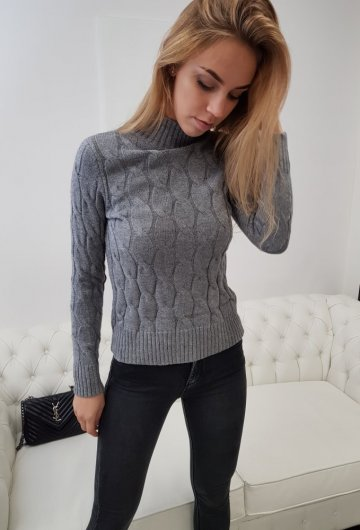 Sweterek Winter Szary