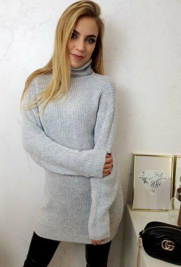 Sweter Long Szary 3