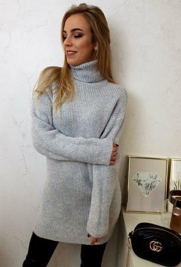 Sweter Long Szary 4
