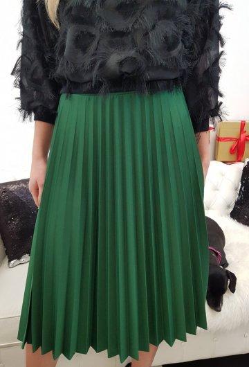 Spódnica Plisowana Zielona 4