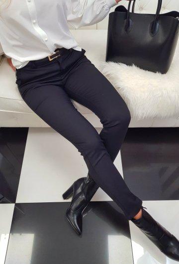 Spodnie Materiałowe Czarne