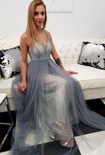 Sukienka Princess Szara 1