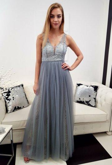 Sukienka Princess Szara 5