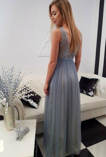 Sukienka Princess Szara 7