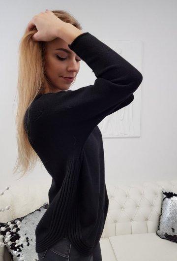 Sweter Półokrągły Czarny
