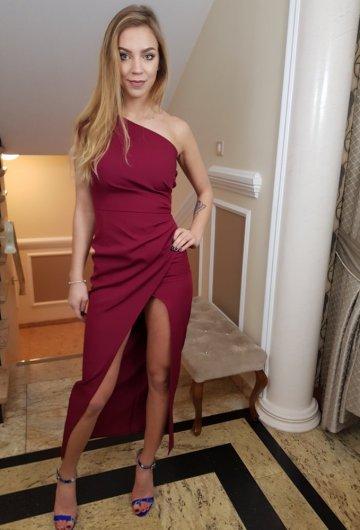 Sukienka Asymetria Bordo 7
