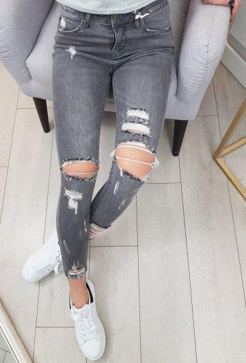 Spodnie Ripped Grey