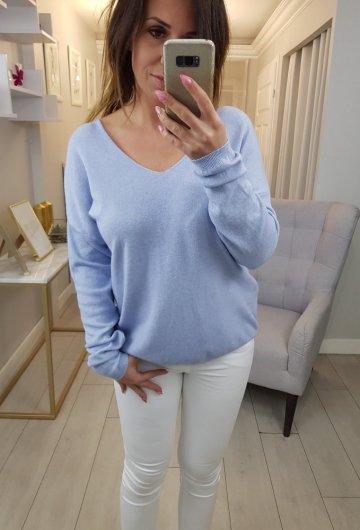 Sweterek Baby Blue