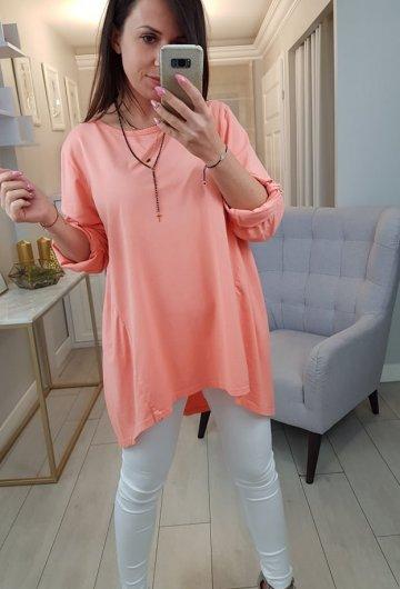 Bluzka Italy Pomarańczowa