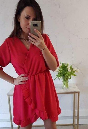 Sukienka Bella Czerwona 3